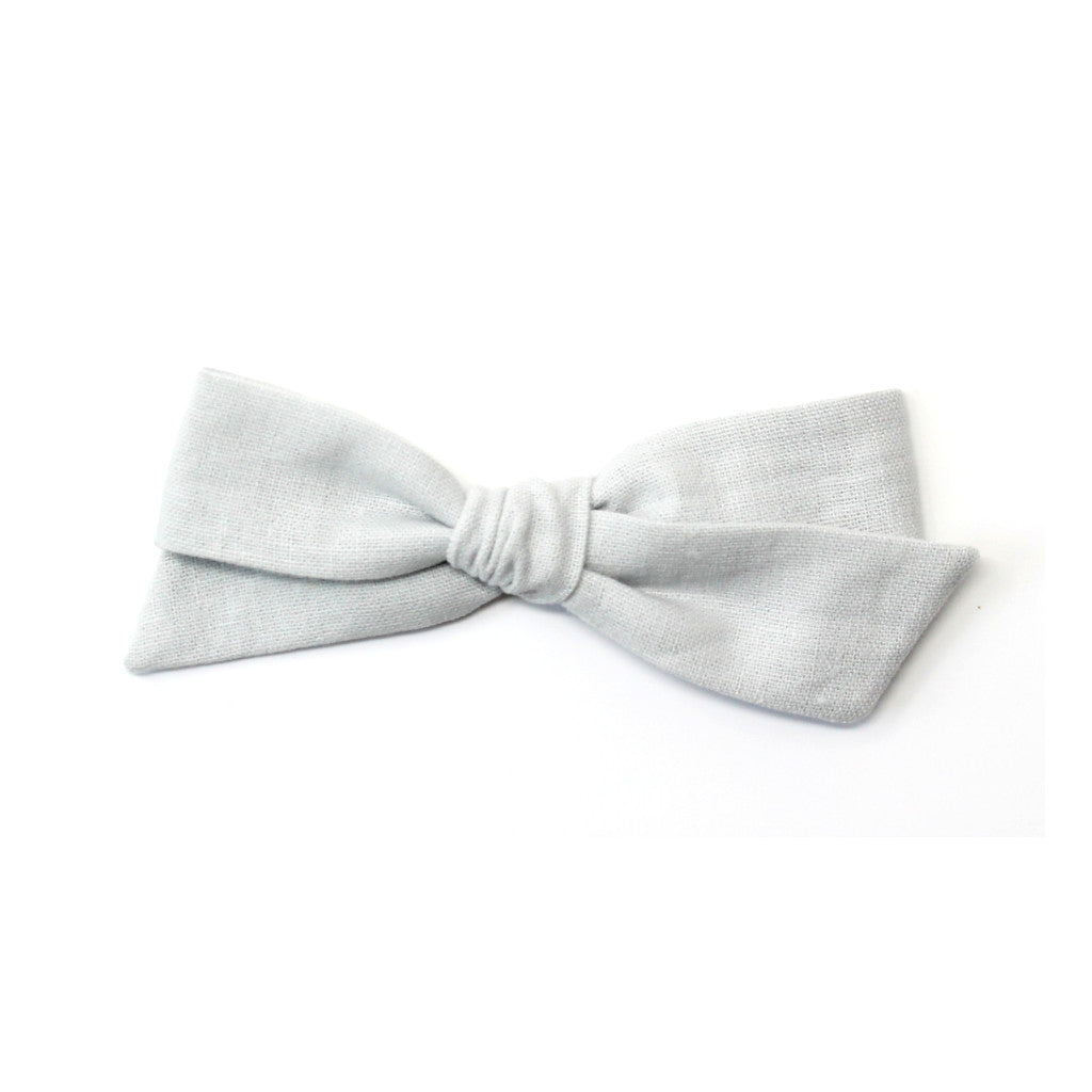 Oversized Pigtail Bow | Dove Grey