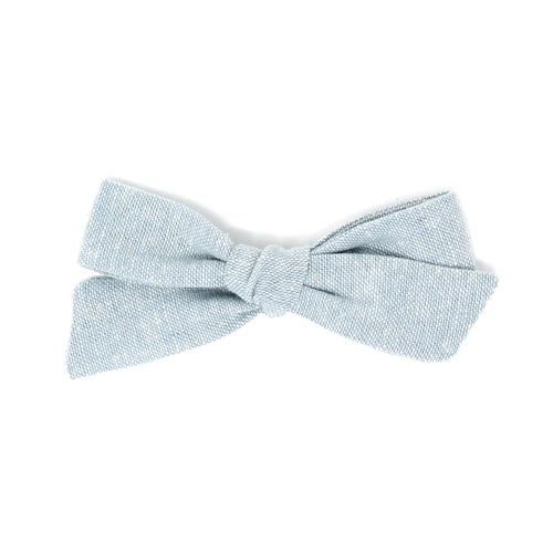 Regular Pigtail Bow | Soft Chambray