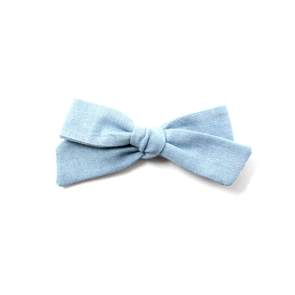 Regular Pigtail Bow | Blue