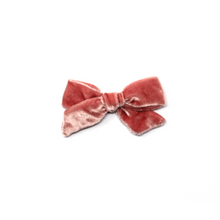 Load image into Gallery viewer, Petite Silk Velvet Bow | Rose