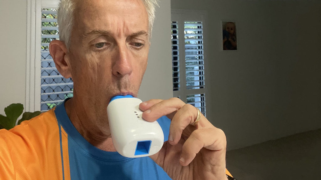 Russel Winwood using SpiroHome Personal spirometer