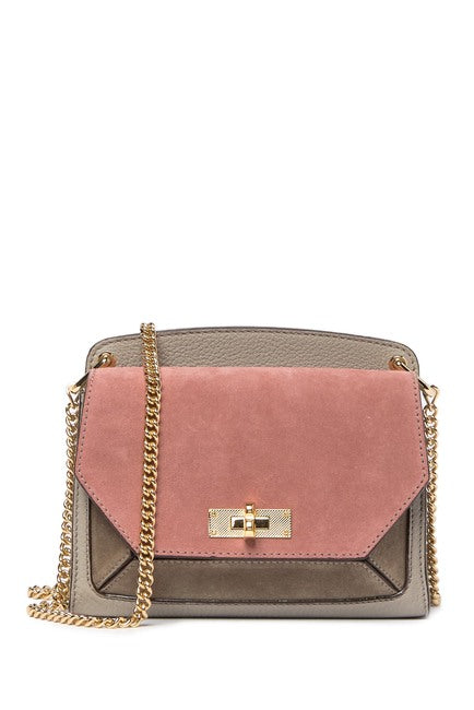 BALLY Mini Flap Suede & Leather Crossbody Bag