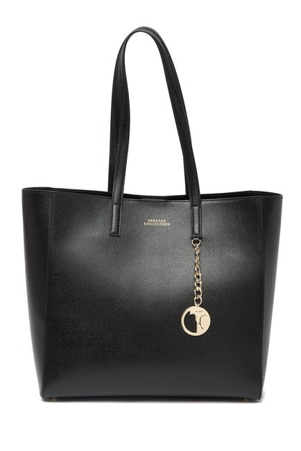 Versace Saffiano Leather Tote Bag