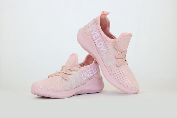 YOKI Women's Pink Love Sneakers