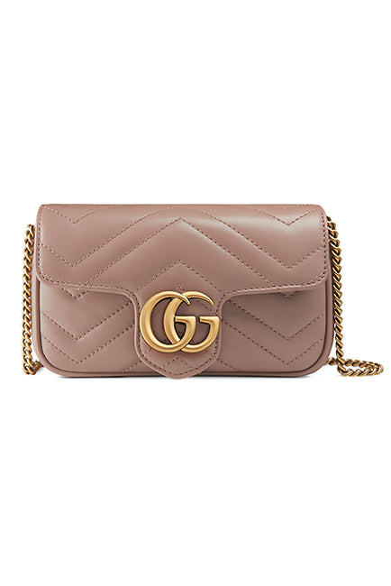 Supermini GG Marmont 2.0 Matelassé Leather Shoulder Bag