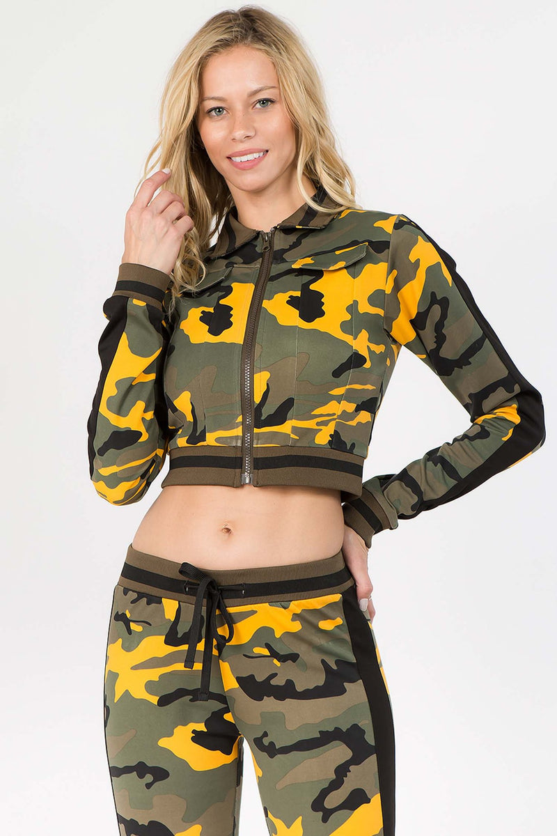 Camo Printed Yellow Track Set
