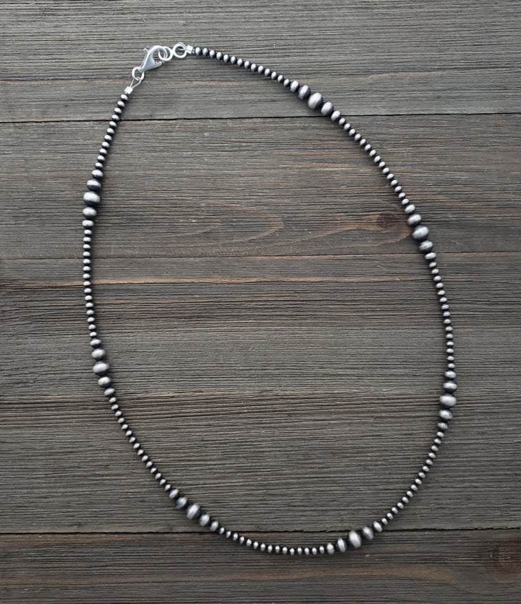 Multi Graduated Navajo Pearl Necklace Available from 14