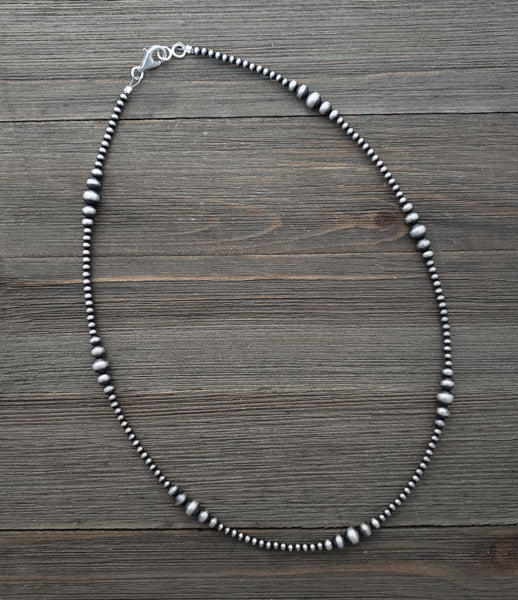 "Multi Graduated Navajo Pearl Necklace Available from 14"" to 72"""