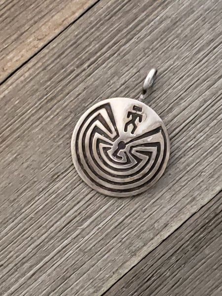 Man in the Maze Pendant Sterling Silver