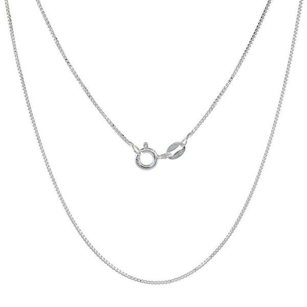 Sterling Silver Box 1mm Necklace Chain Italian Italy