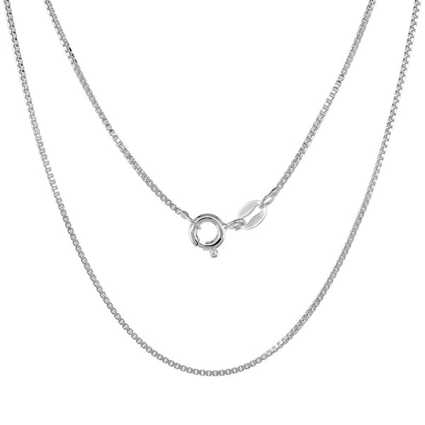 Sterling Silver Box 1.1mm Necklace Chain Italian Italy