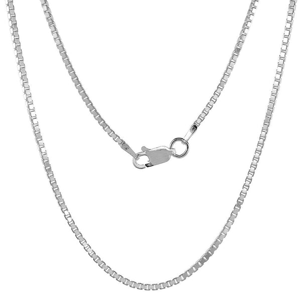 Sterling Silver Box 1.5mm Necklace Chain Italian Italy