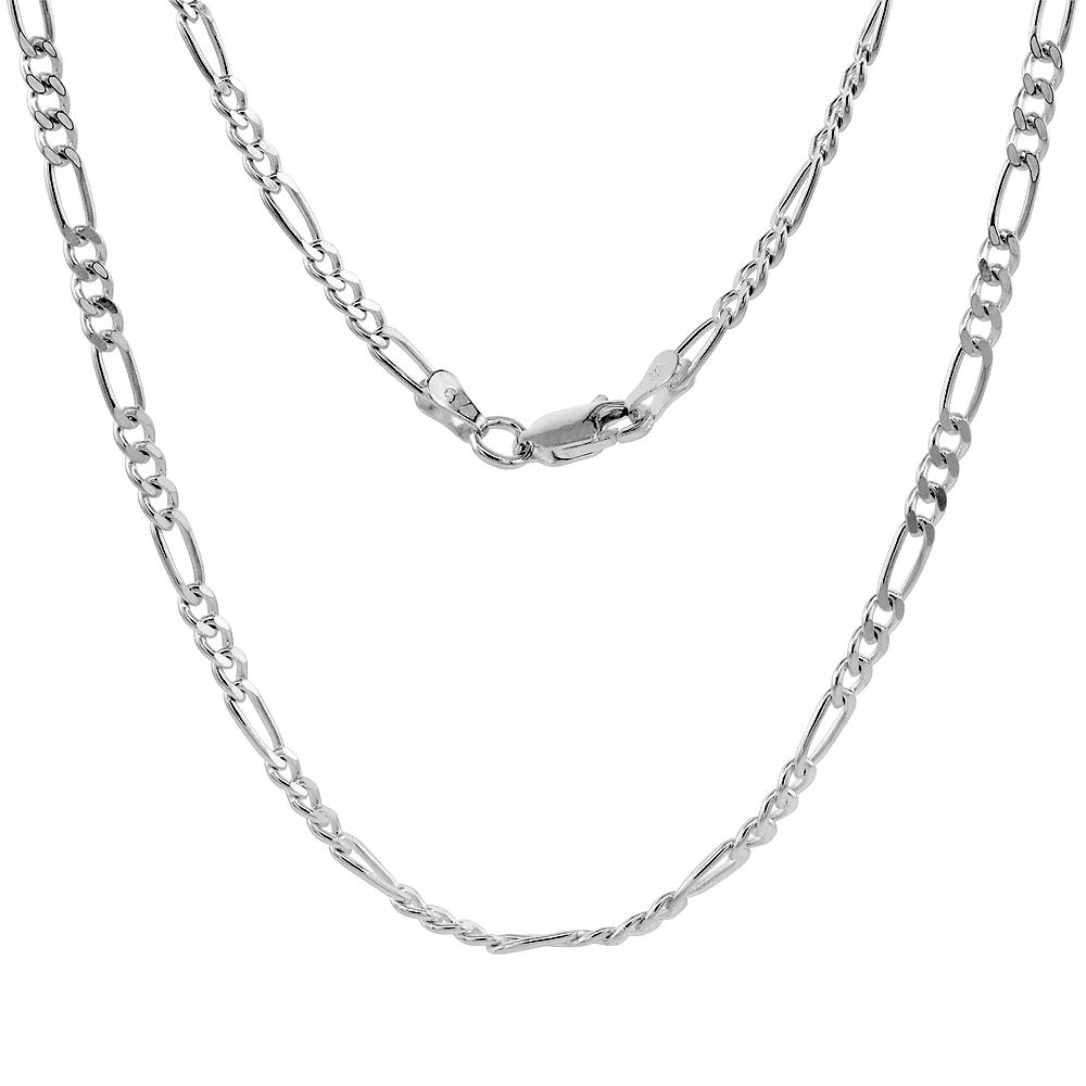 Sterling Silver Figaro 3mm Necklace Bracelet Anklet Chain Italian Italy