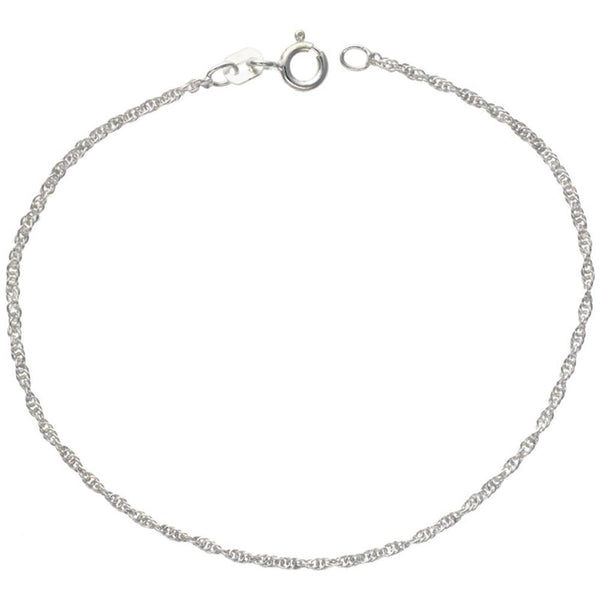 Sterling Silver Loose Rope 1.5mm Necklace Chain Italian Italy