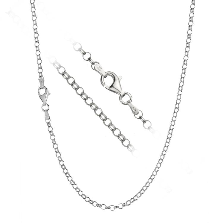 Sterling Silver Rolo 3mm Necklace Chain Italian Italy