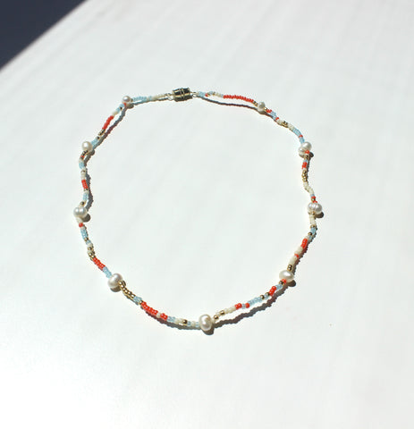 Perla Multicolor Puka Necklace