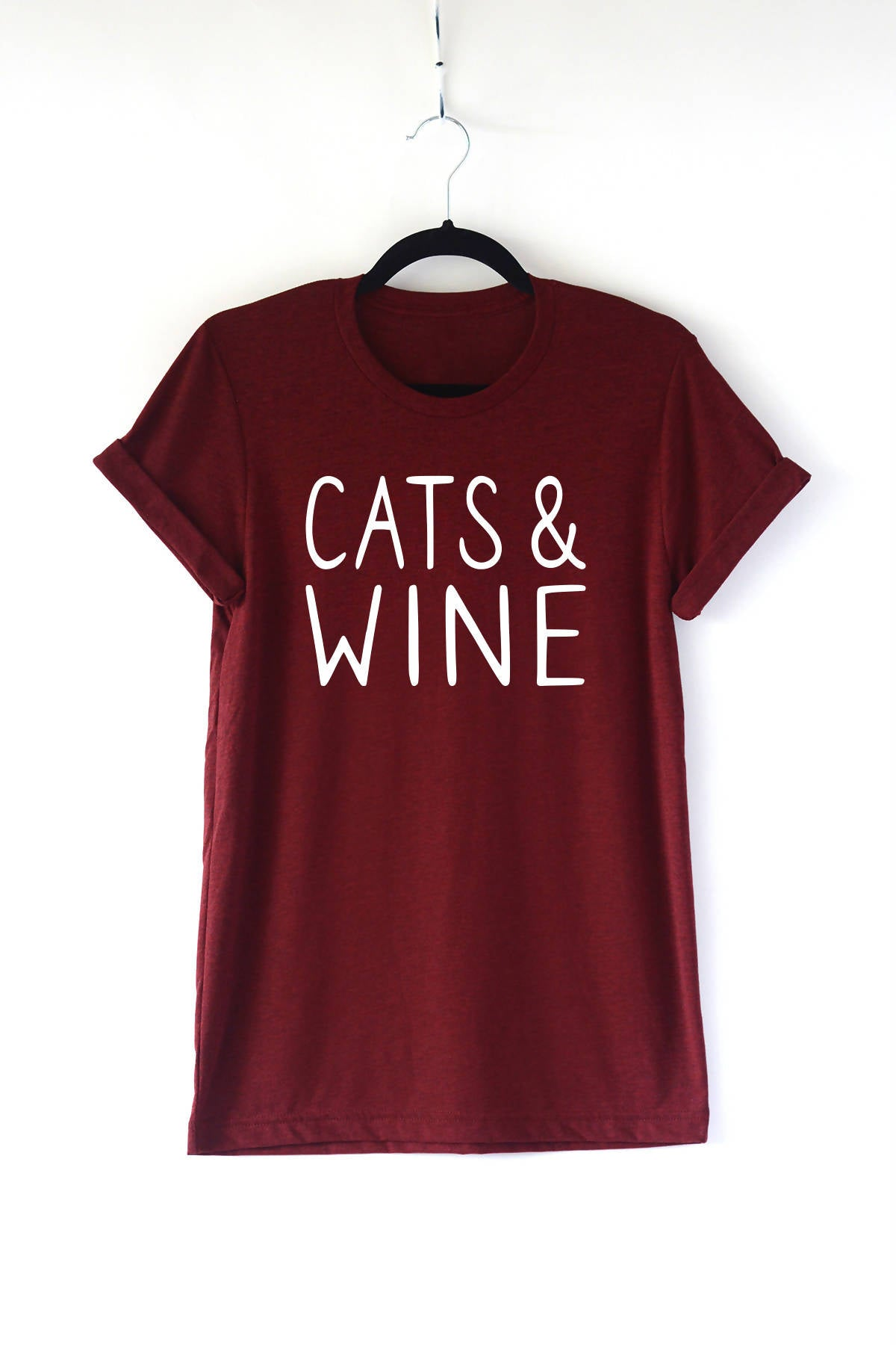 Cats and Wine Adult Crewneck Tee