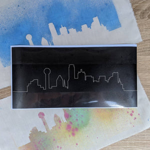 Dallas Skyline Stencil
