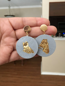 CIrcle Cement Earrings