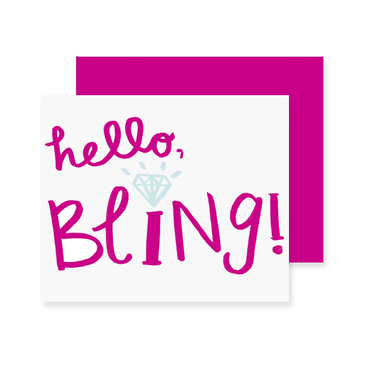 Hello Bling Greeting Card