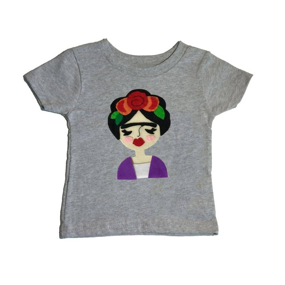 Frida - Kids Shirt - Pink and Gray