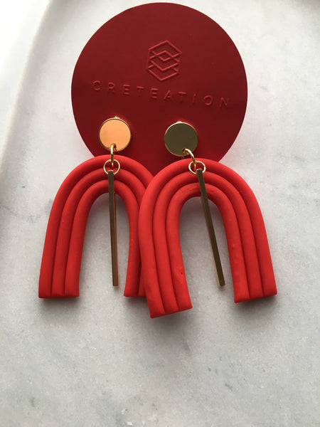 jazzed up clay earrings