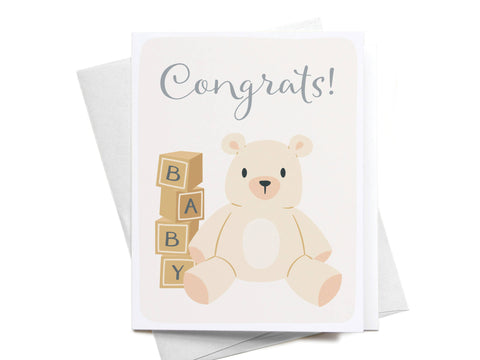 Congrats! Baby Bear Greeting Card