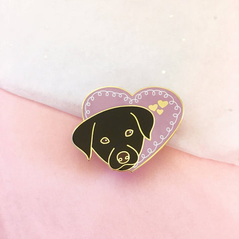 Puppy Love Enamel Pin