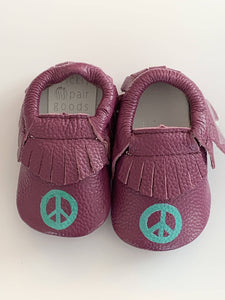 Peace Sign Moccasins