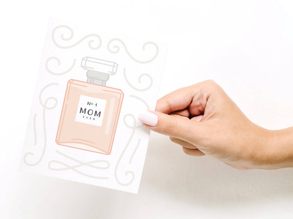 No. 1 Mom Perfume Greeting Card