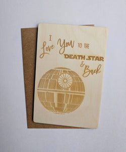 Death Star Greeting Card