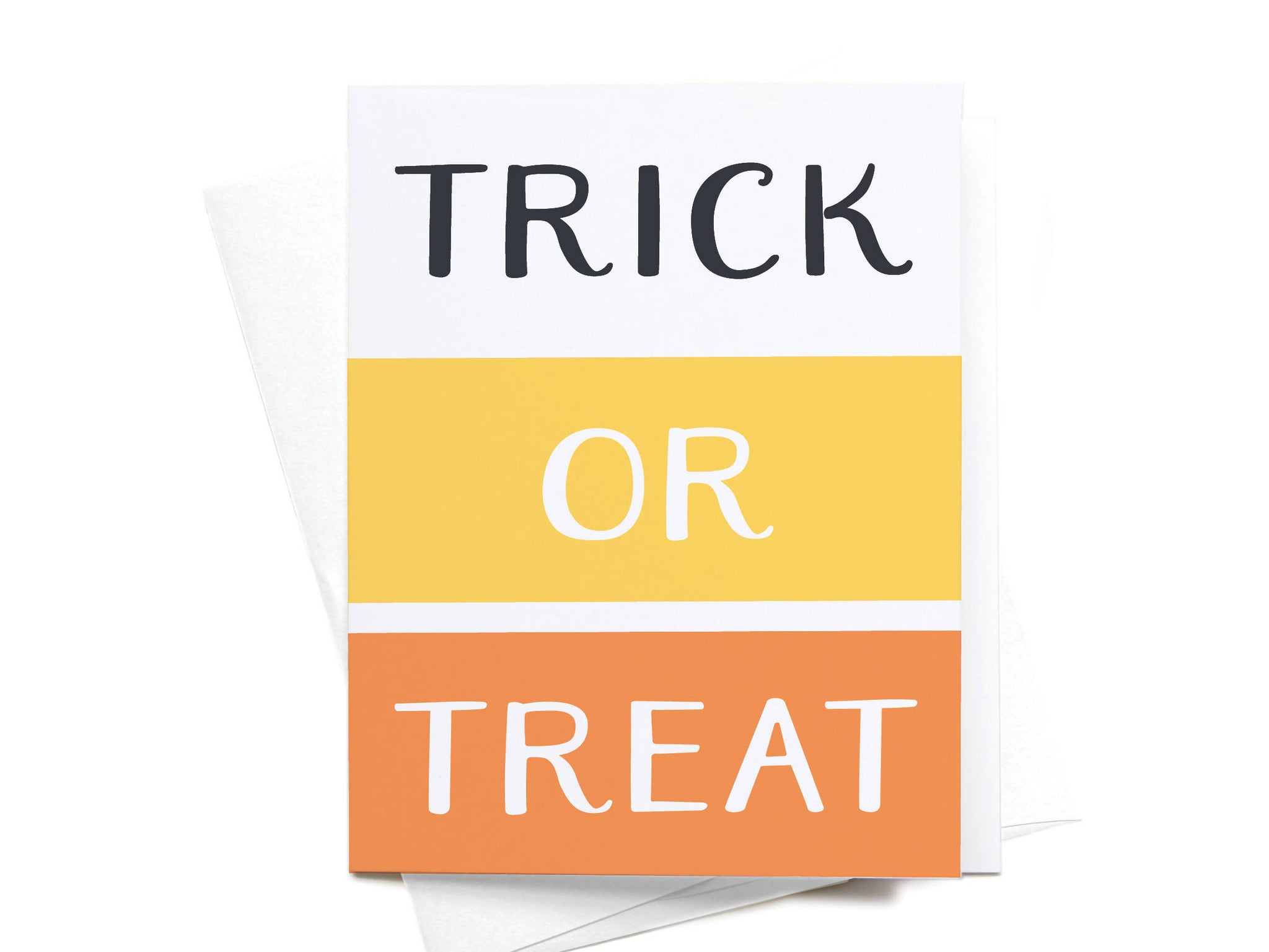 Trick or Treat Colorblocks Greeting Card