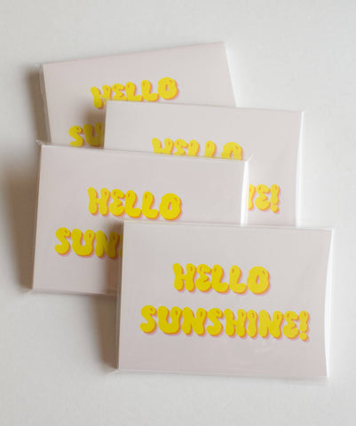 Hello Sunshine Note Card Set