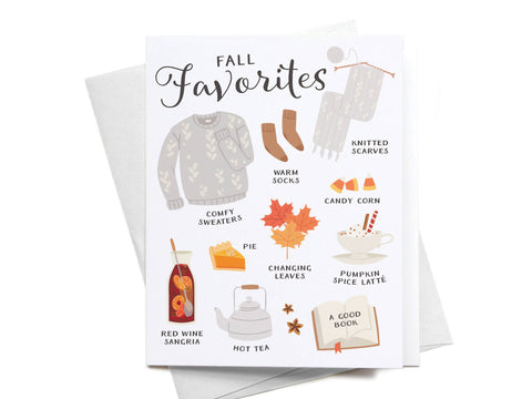Fall Favorites Greeting Card