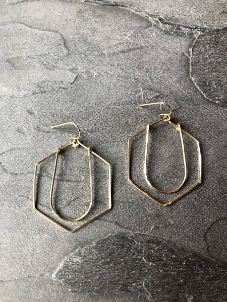 Art Deco Earrings in Silver and Gold