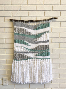 Medium Organic Teal/Gray Weaving