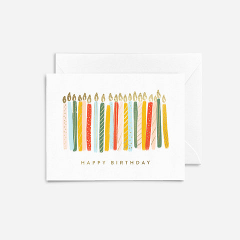 Foil Candles Birthday Card