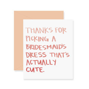 Bridesmaids Dress Greeting Card