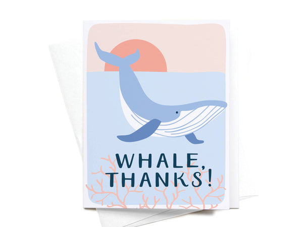 Whale, Thanks! Greeting Card