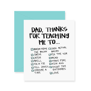 Dad Checklist Greeting Card