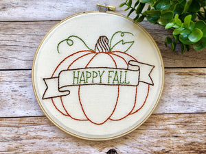 Happy Fall Pumpkin Hoop