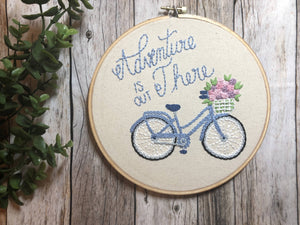 Adventure is Out There Bike Hoop