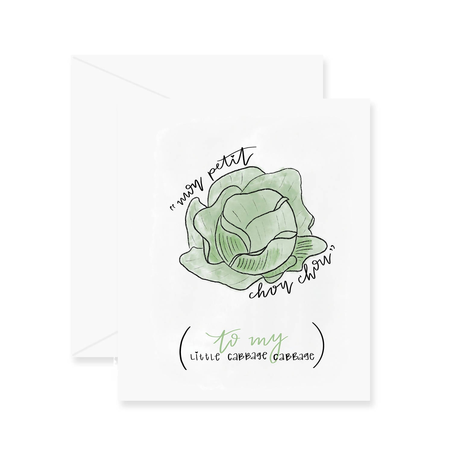 Cabbage Cabbage Greeting Card