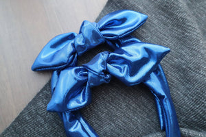 Blue Metallic Headband