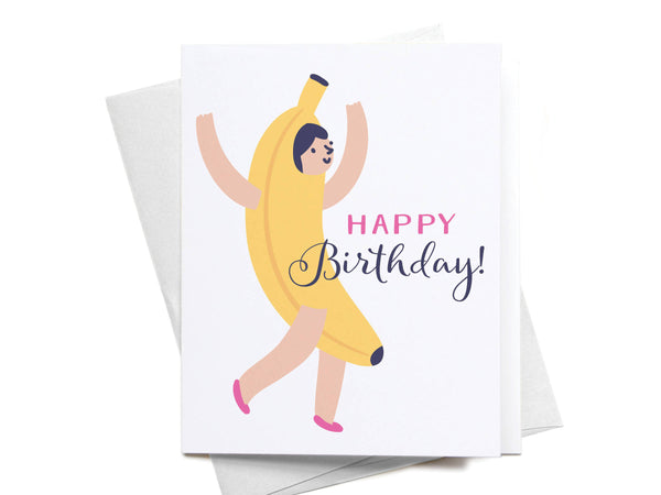 Happy Birthday! Banana Girl Greeting Card