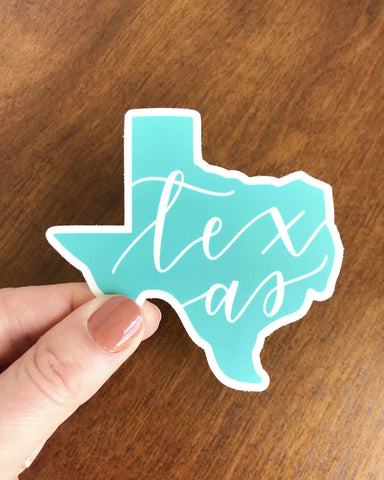 Teal Texas Sticker