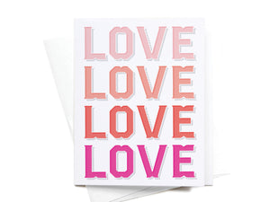 LOVE LOVE LOVE LOVE Greeting Card