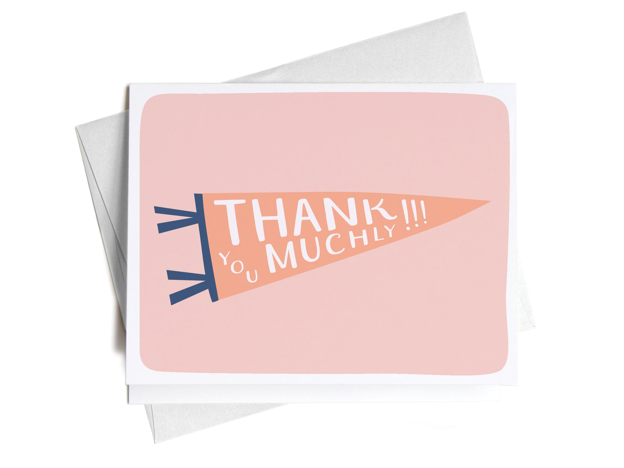Thank You Muchly Pennant Flag Greeting Card