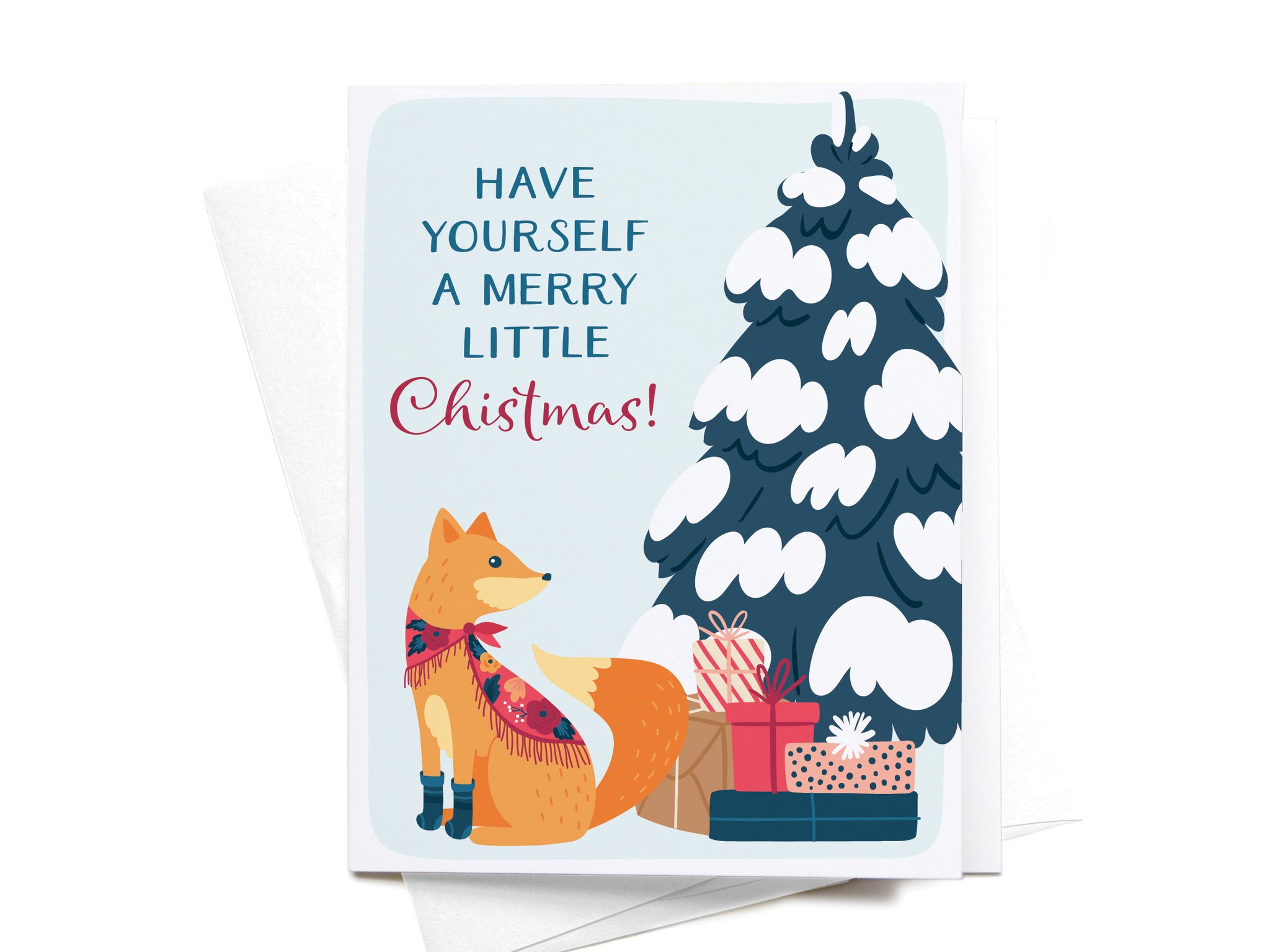 Have Yourself a Merry Little Christmas Fox Greeting Card