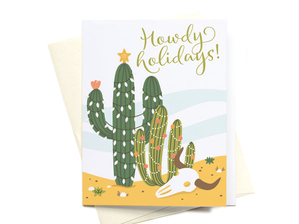 Howdy Holidays Greeting Card